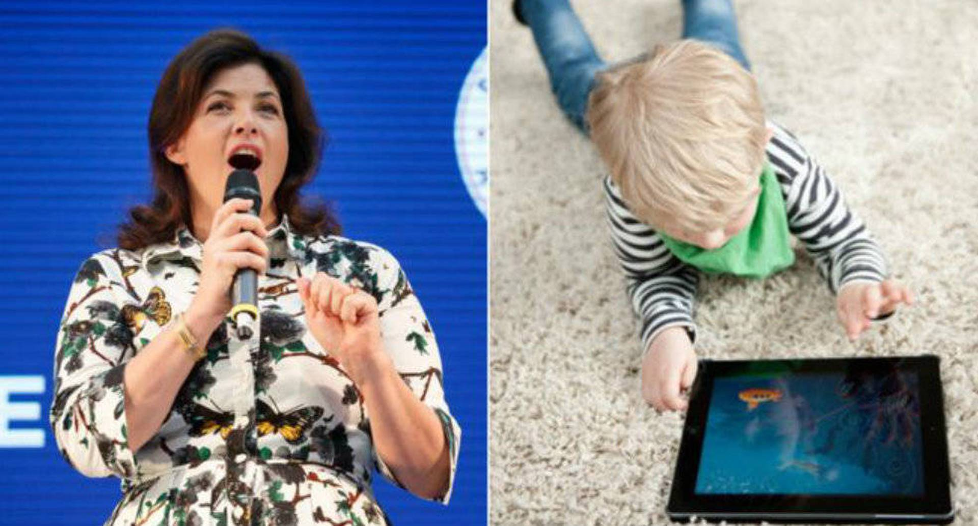 Kirstie Allsopp causó polémica por su forma de hacer que se respeten las reglas sobre el uso de pantallas en casa. foto: GettyImages vía BBC.
