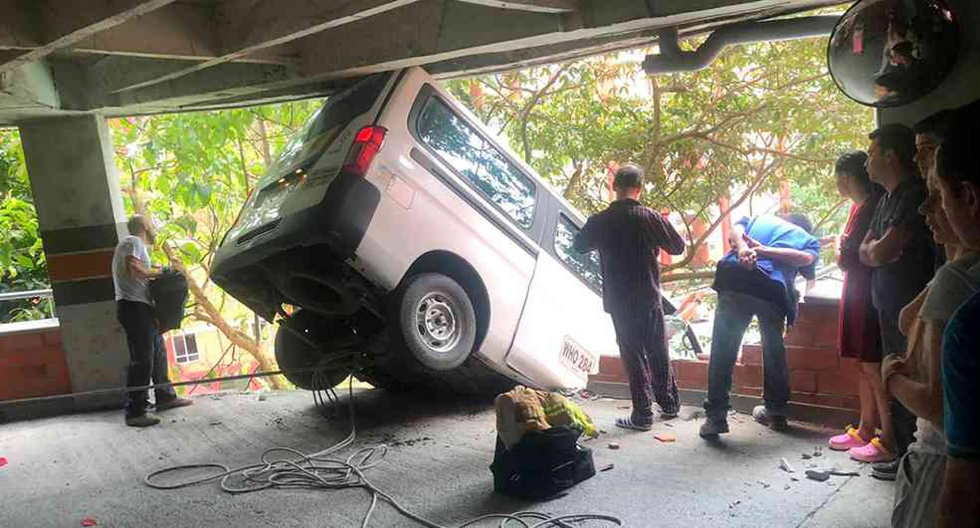 En el accidente en Envigado nadie salió herido