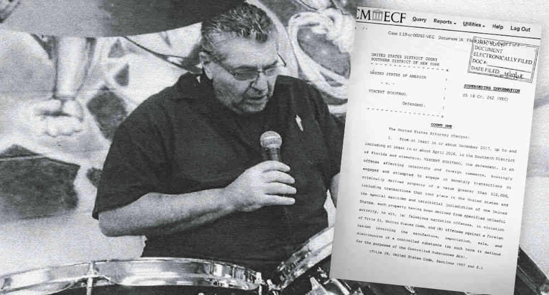 Esta es una de las pocas fotos conocidas de Vincent Schifano. Agentes encubiertos de la DEA lo grabaron cuando se comprometió a lavar 15 millones de dólares de un cargamento de cocaína que iba a ser enviado con el conocimiento del jefe guerrillero Jesús Santrich.