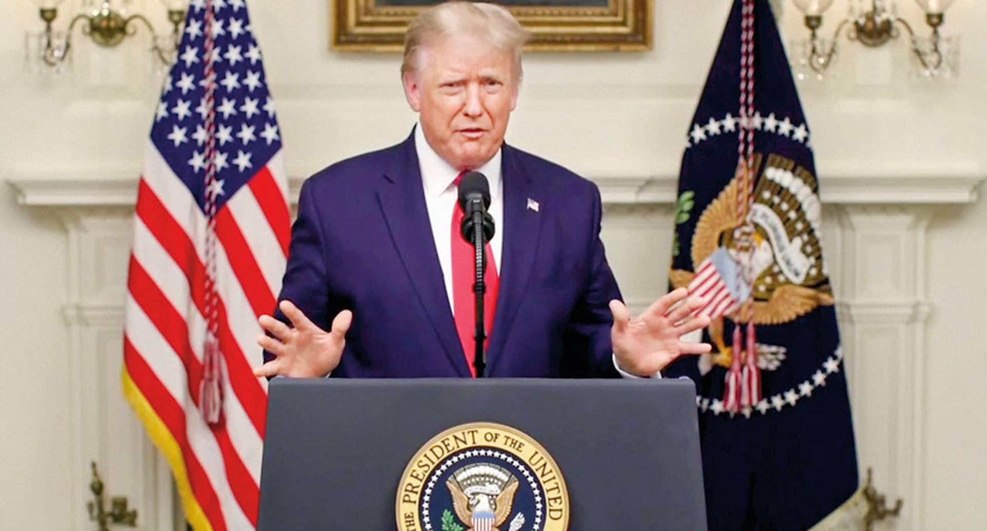 """El presidente de EE. UU., Donald Trump, dijo que las revelaciones del New York Times son """"noticias falsas""""."""