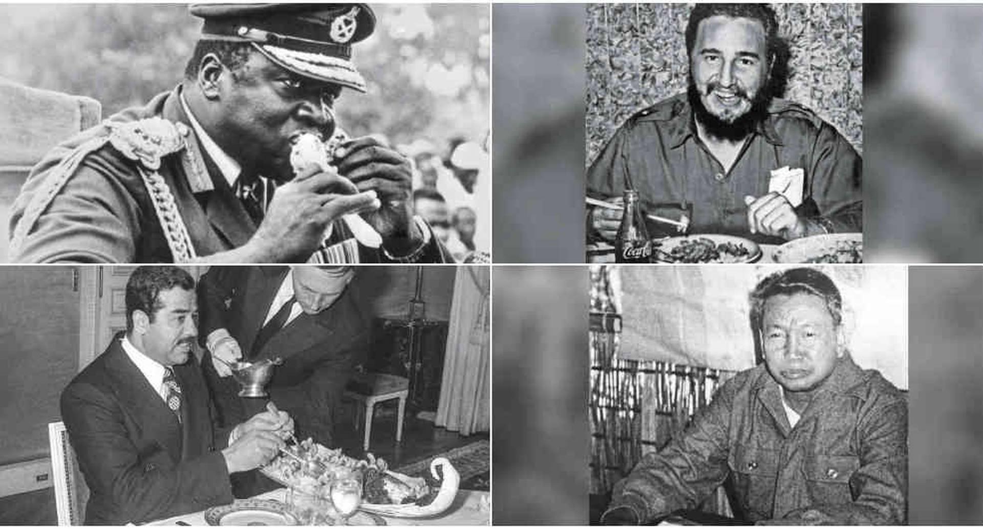 Un libro explica qué comían Idi Amin Dada, Fidel Castro, Saddam Hussein y Pol Pot.