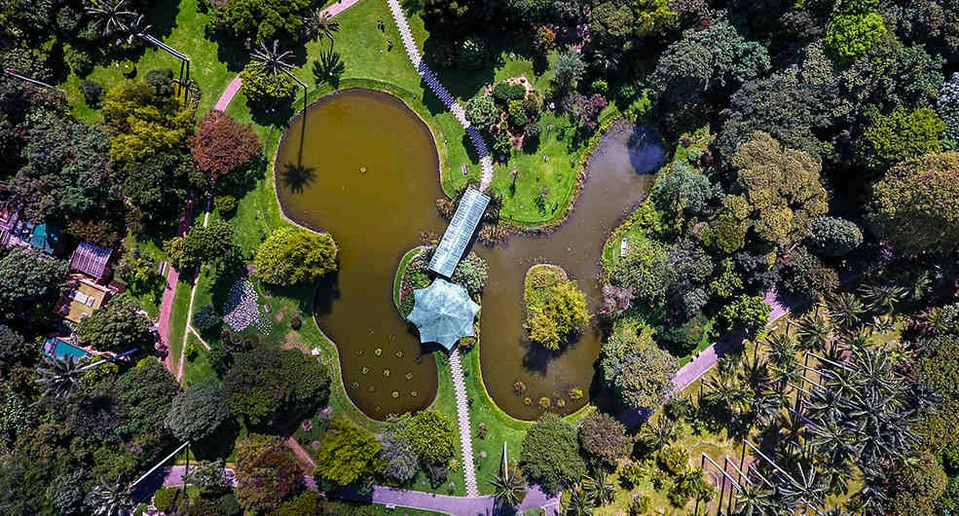 Vista aérea del Jardín Botánico José Celestino Mutis. Foto: Cortesía Jardín Botánico