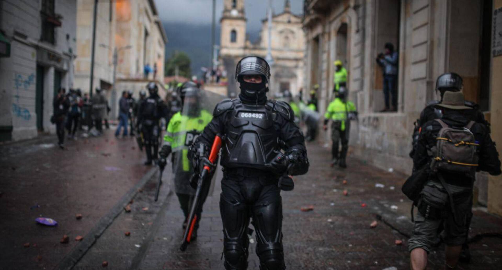Protestas en el centro de Bogotá