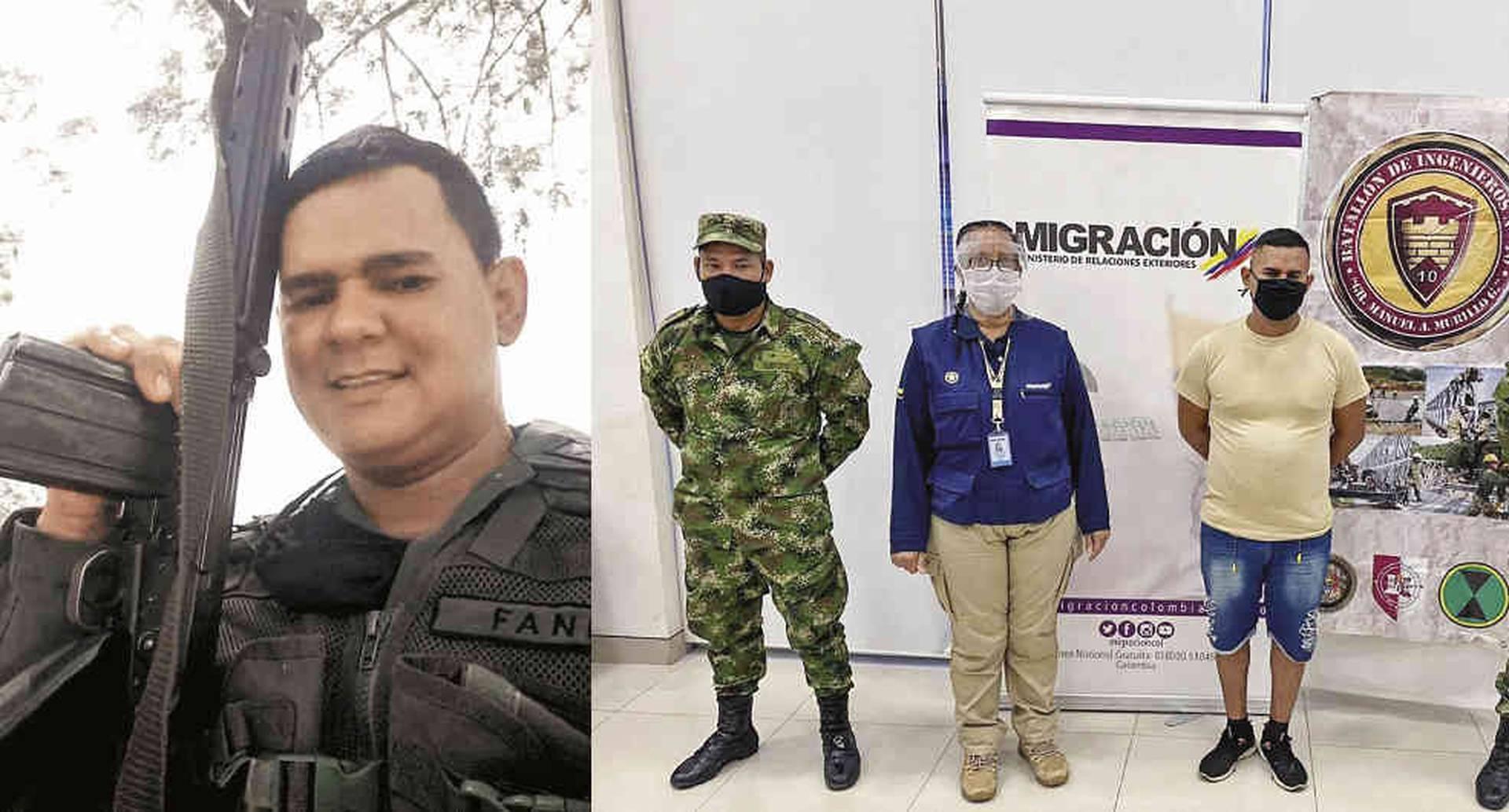 Este es el sargento Gerardo Rojas de la Fuerza Armada venezolana, capturado por la contrainteligencia del Ejército. Lo señala de adelantar actividades de espionaje cerca de una unidad militar en Valledupar.