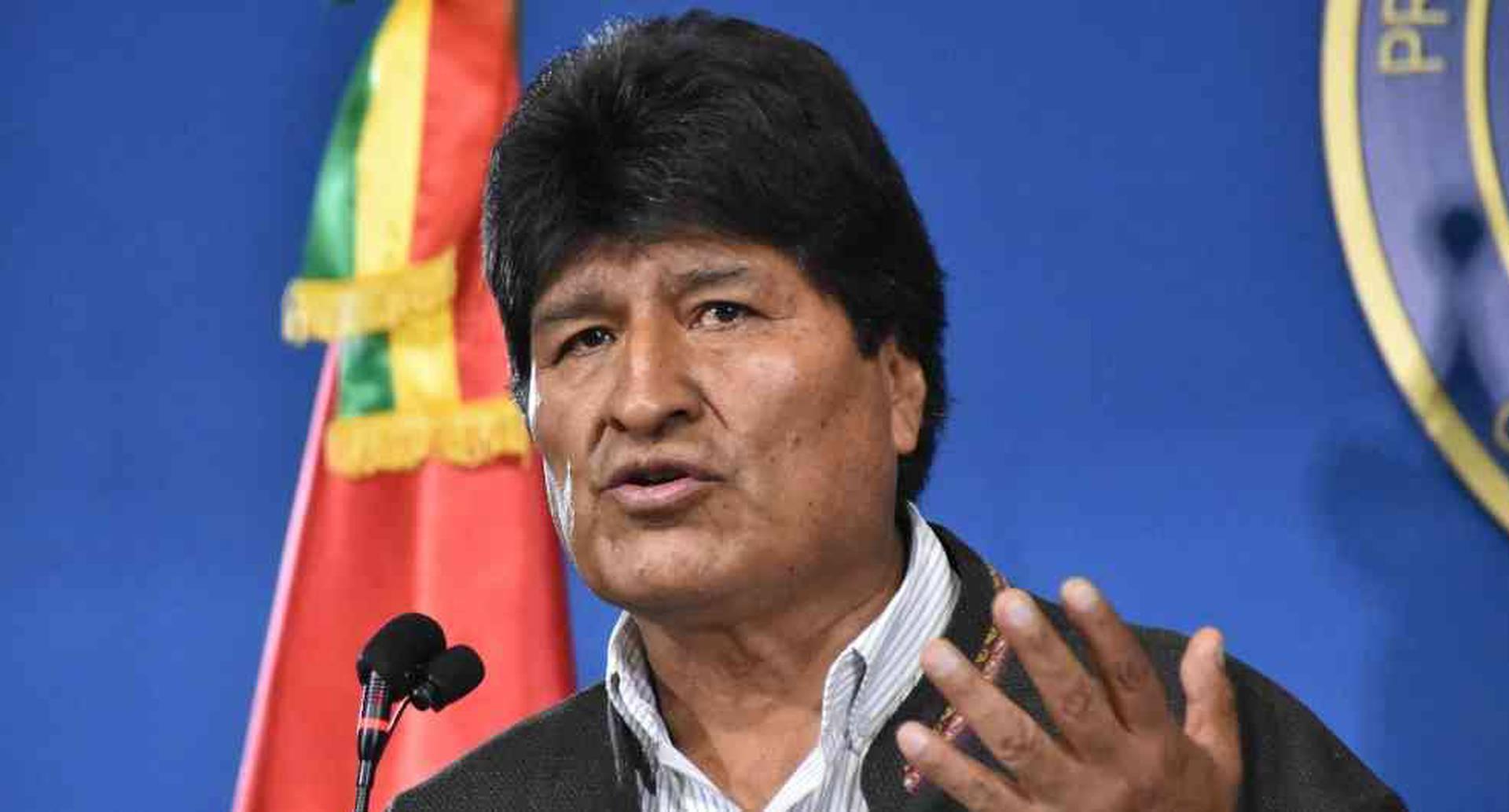Evo Morales expresidente de Bolivia. Foto: AFP