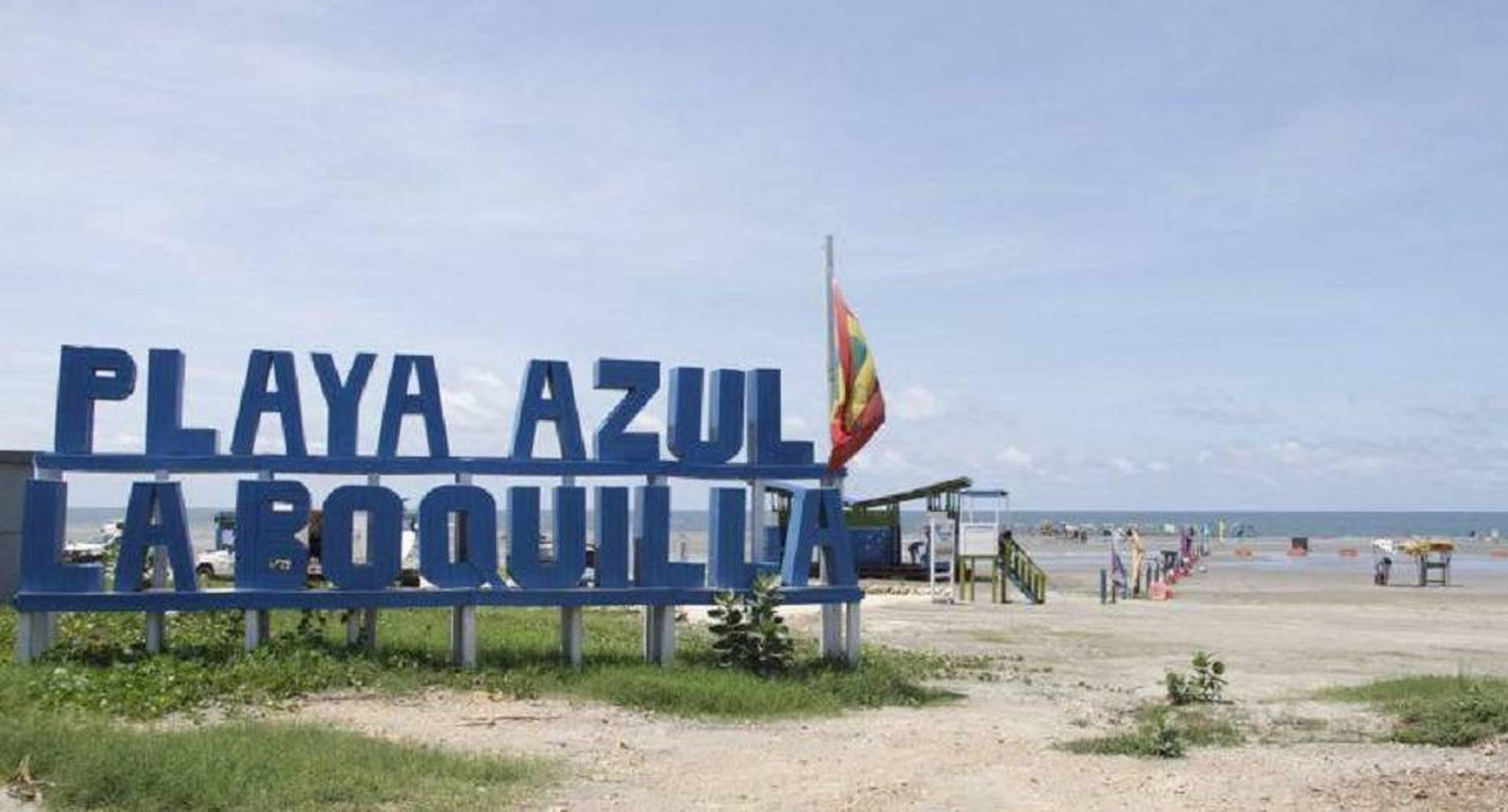 Playa Azul en La Boquilla es uno de los sectores de playas que entrarán a funcionar desde el 1 de octubre en Cartagena.