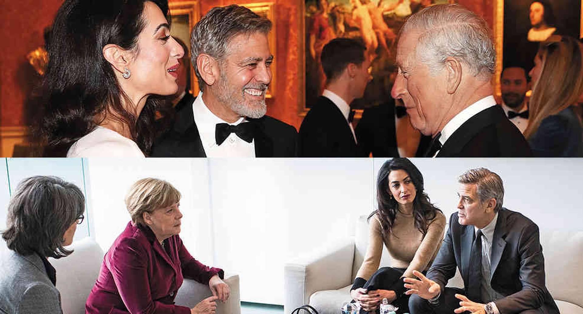 Los Clooney viven en Londres y asisten a los eventos de la familia real. Desde hace unos años, además, se reúnen con líderes mundiales para hablar sobre el tema de los refugiados.