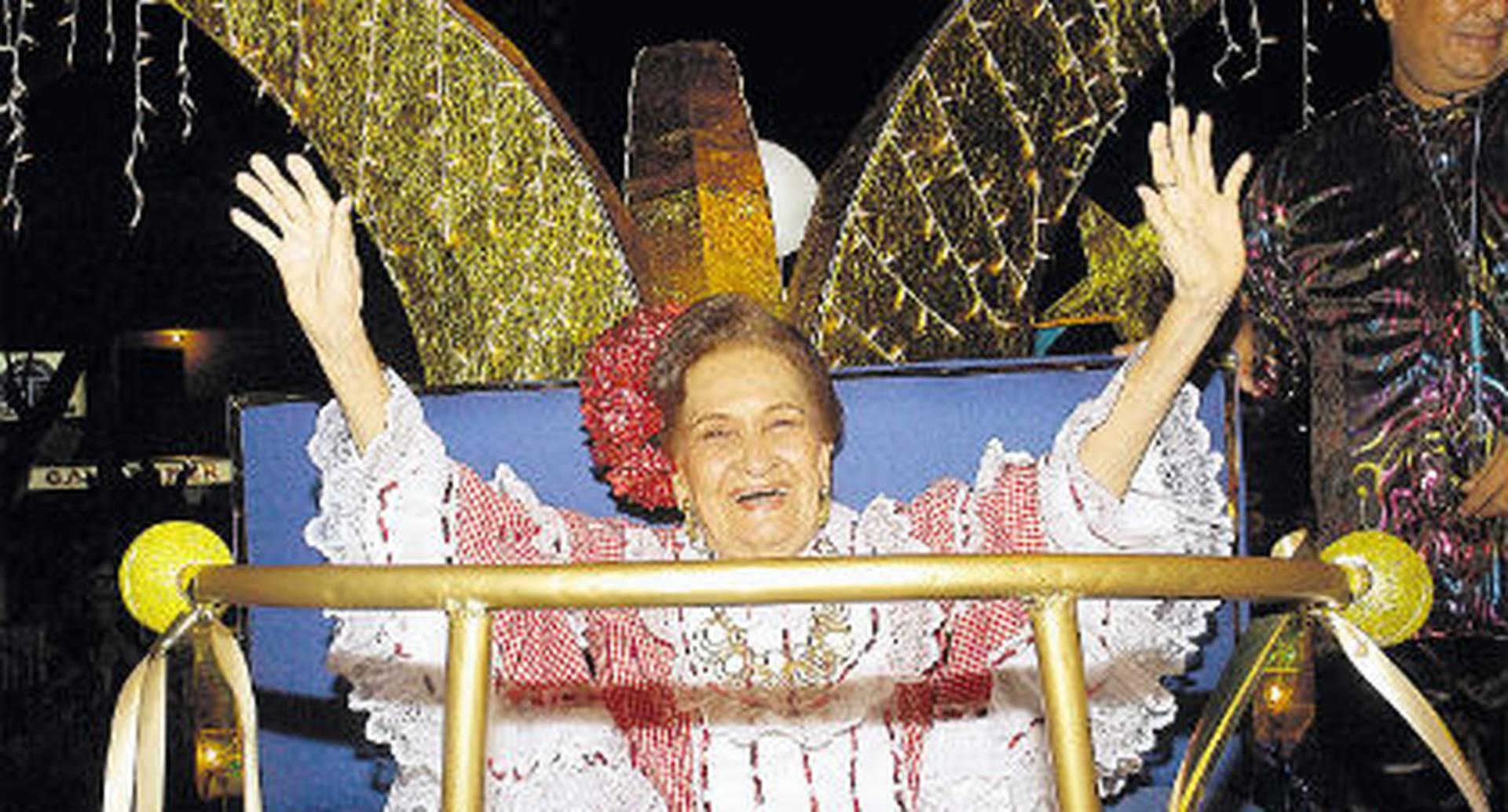 Esthercita Forero era figura induscutible durante cada celebración del Carnaval de Barranquilla.