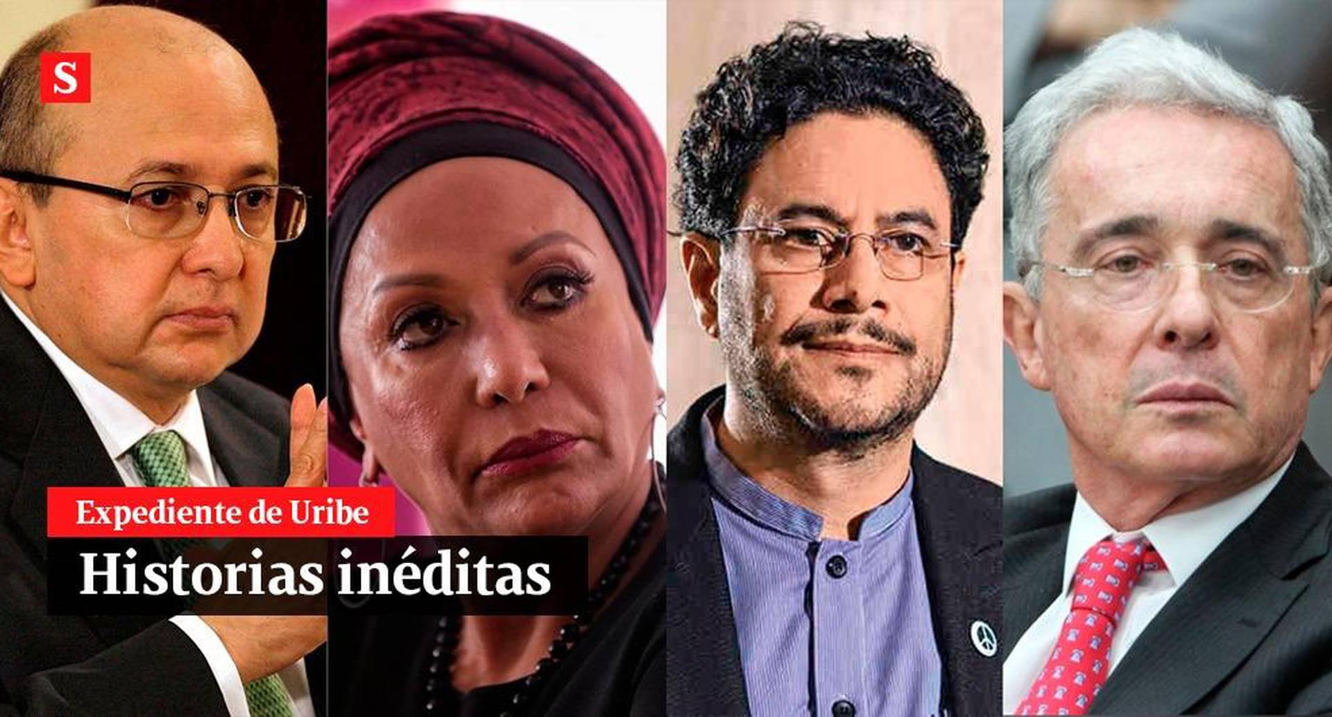 Eduardo Montealegre, Piedad Córdoba, Iván Cepeda y Álvaro Uribe