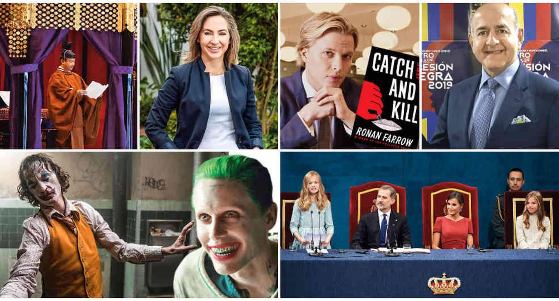 Algunos protagonistas de la semana: Naruhito, Ronan Farrow, Joaquin Phoenix, Jared Leto y la princesa Leonor