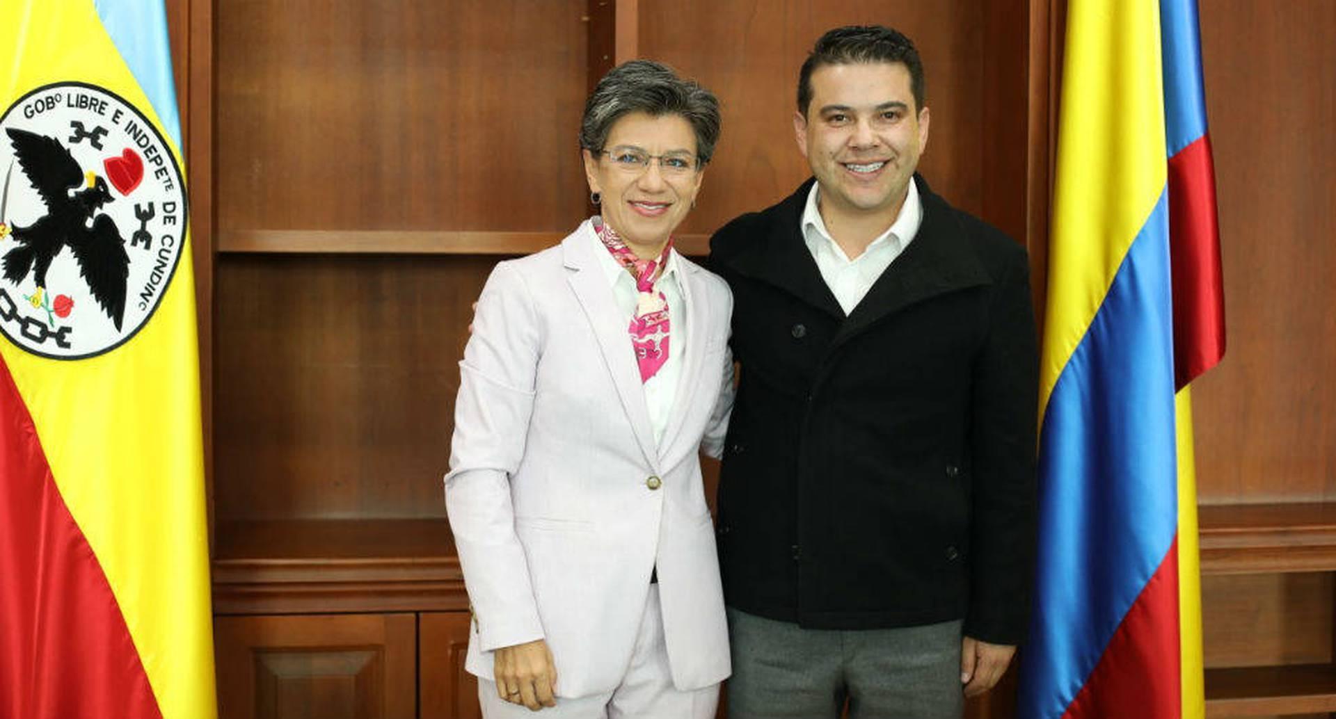 Claudia López y Nicolás García.