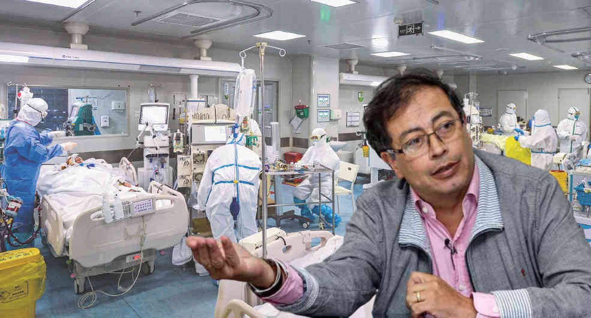 Los trinos del senador Petro que molestaron a la comunidad médica/ Fotomontaje SEMANA