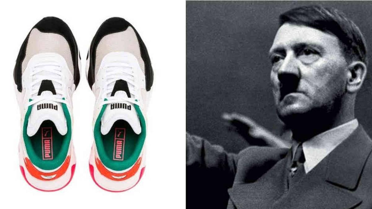 Atlas elegante fuegos artificiales  Se parecen a Hitler? Nuevo modelo de tenis desata polémica en redes sociales