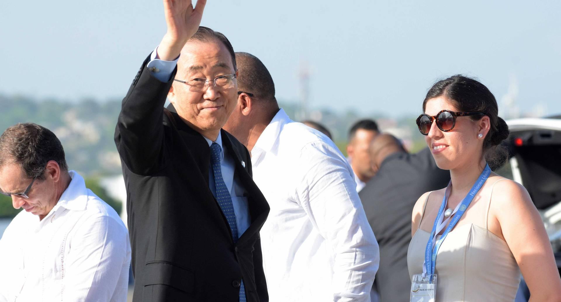 """El secretario General de la ONU, Ban Ki-moon, quien desde que recibió el acuerdo definitivo aseguró que """"La paz es una gran victoria para Colombia"""". Su apoyo no termina con esta firma, se extiende en el posconflicto. Crédito/Presidencia de la República."""