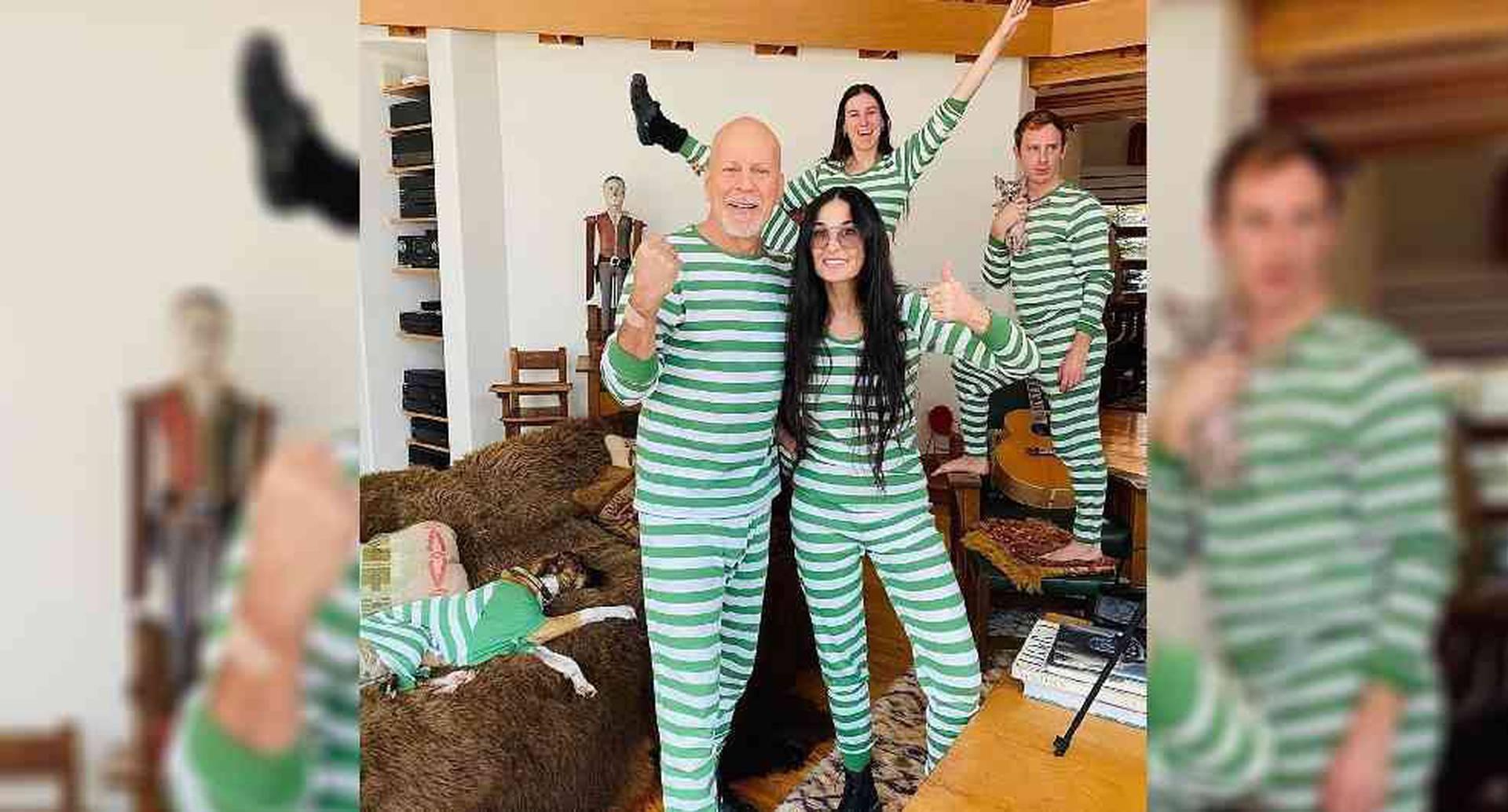 Bruce Willis y Demi Moore en cuarentena - Foto: Instagram demimoore