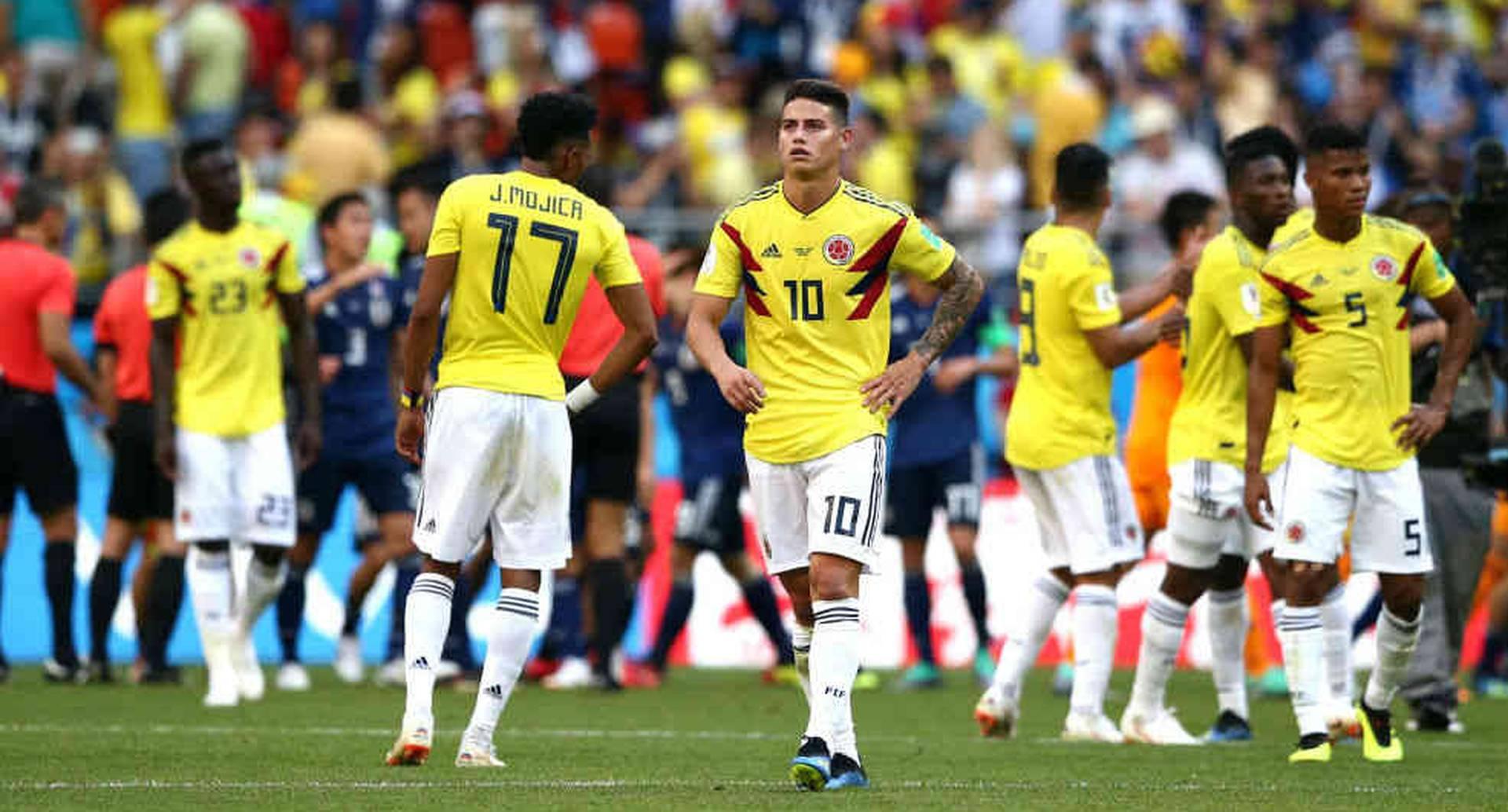 La selección Colombia en el mundial Rusia 2018.