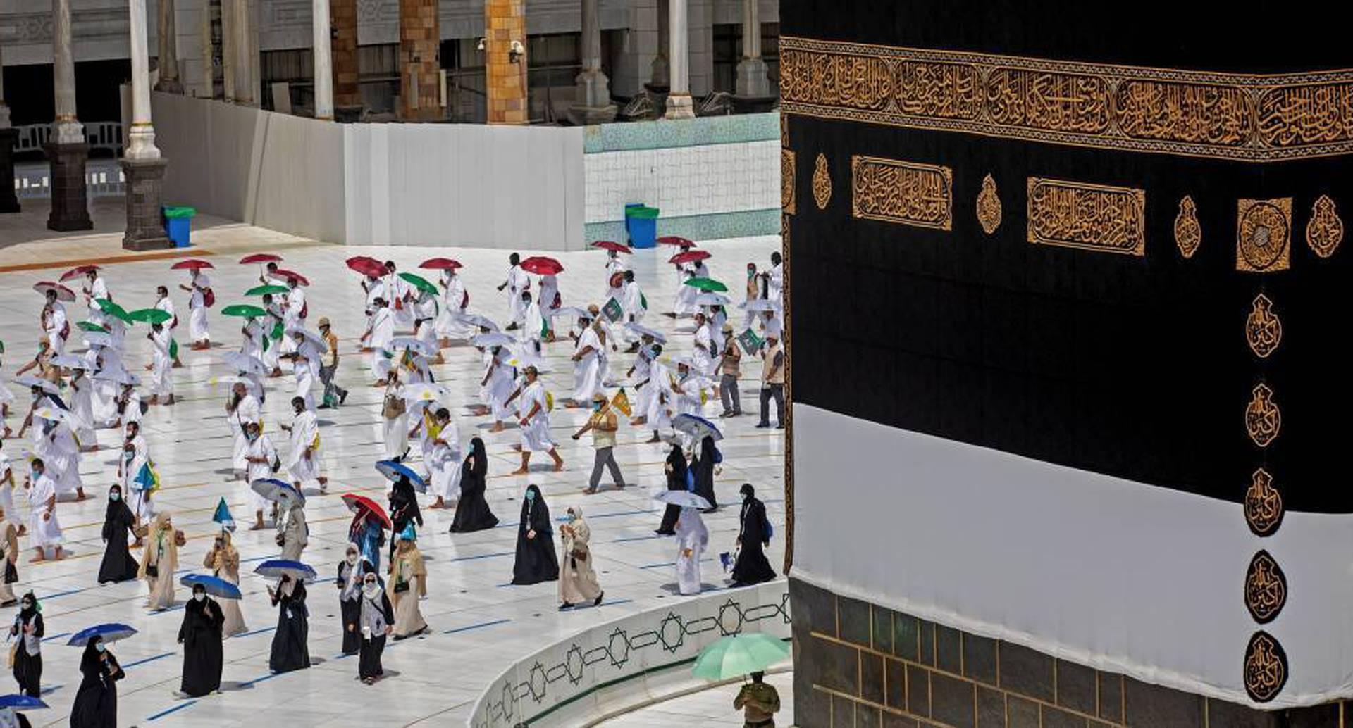 Peregrinación en La Meca: restricciones por coronavirus.