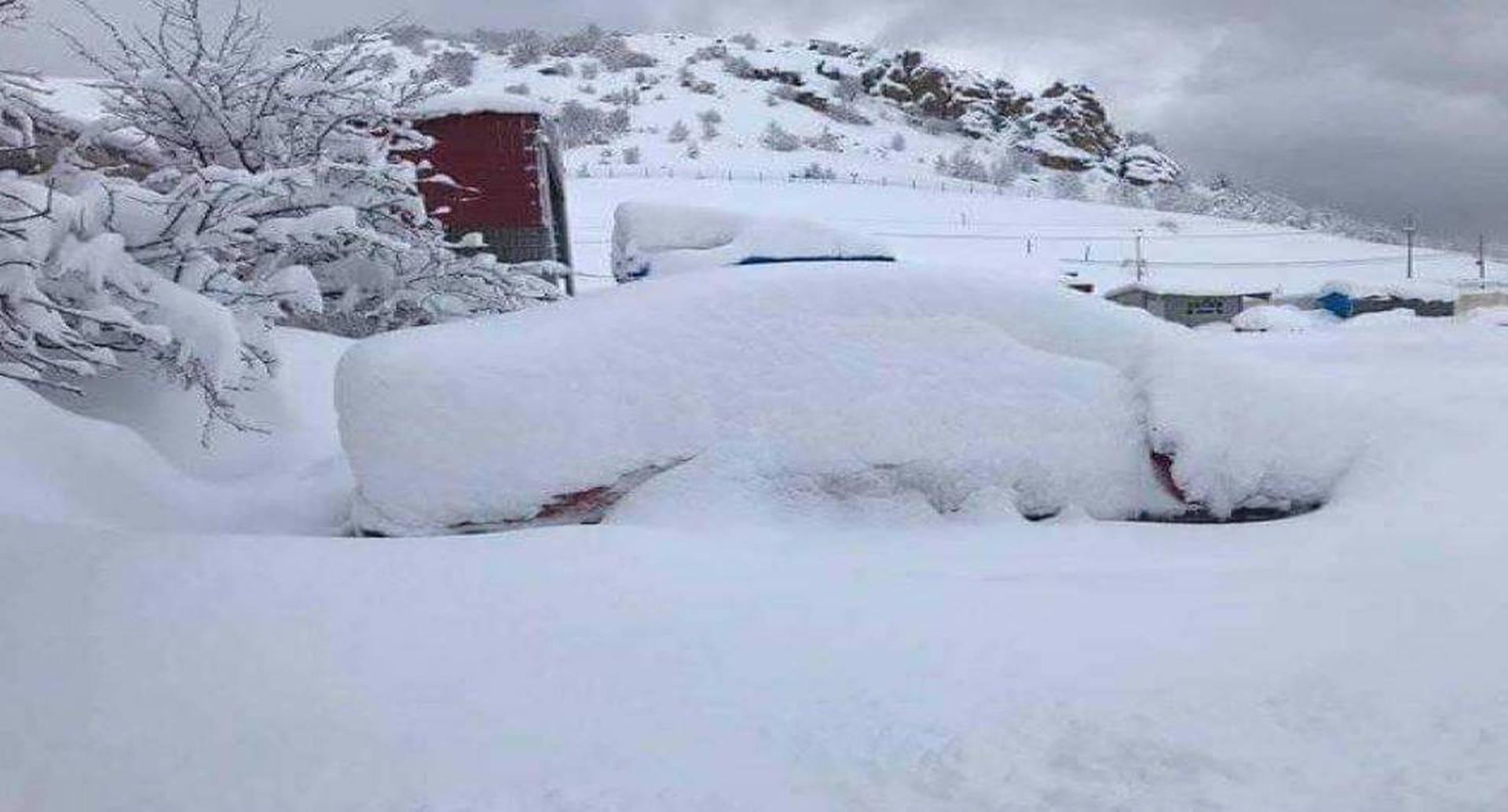 Una de la imágenes dejadas por las nevadas de este martes en Irak