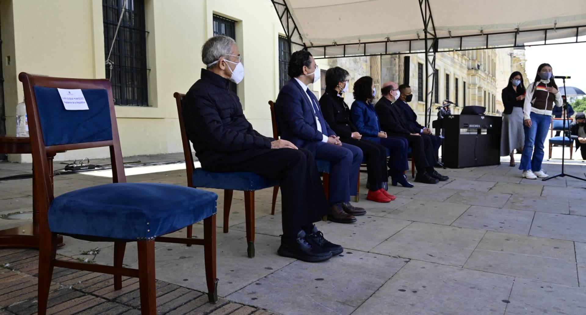 Silla Vacía del presidente Duque en acto de reconciliación