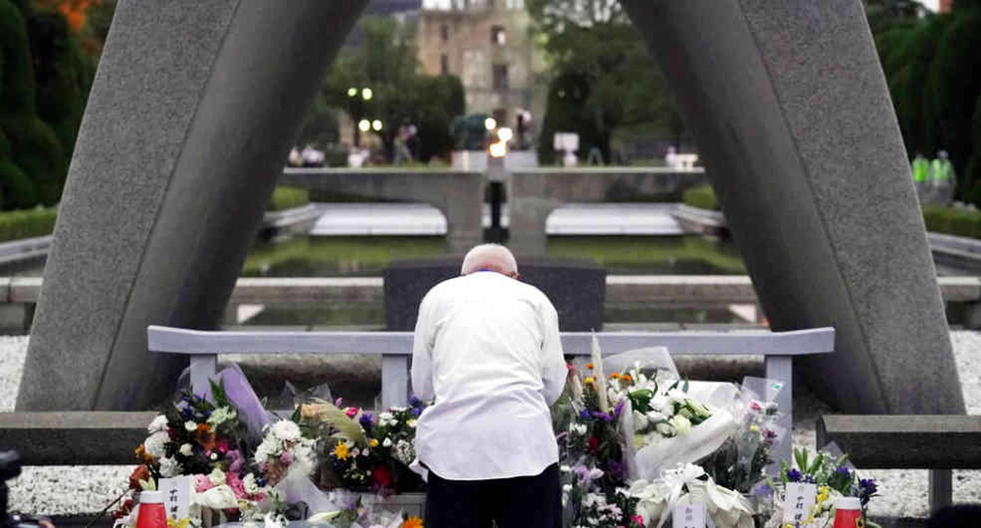 La ceremonia de conmemoración fue realizada en el Parque Memorial de la Paz en Hiroshima.