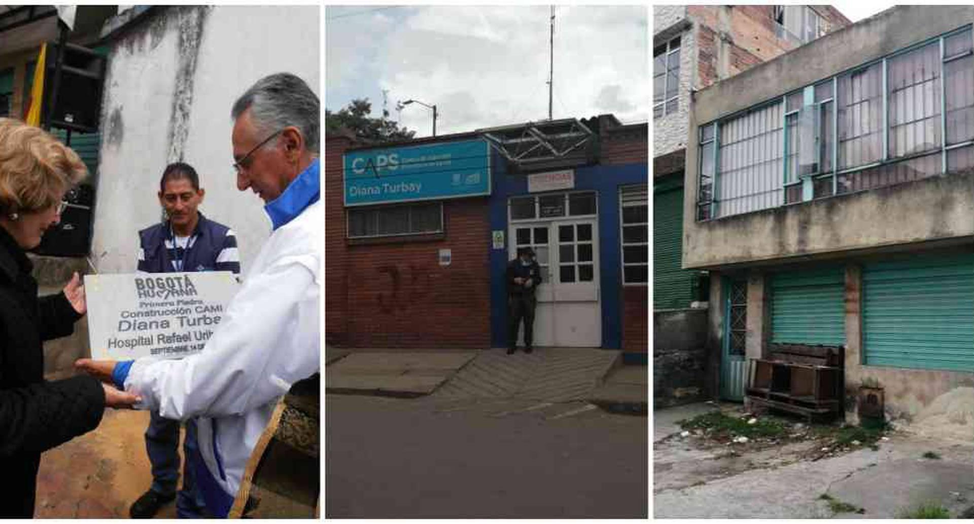 En la foto de la izquierda aparece la señora Nidia Quintero junto al entonces secretario de Salud, Guillermo Alfonso Jaramillo.