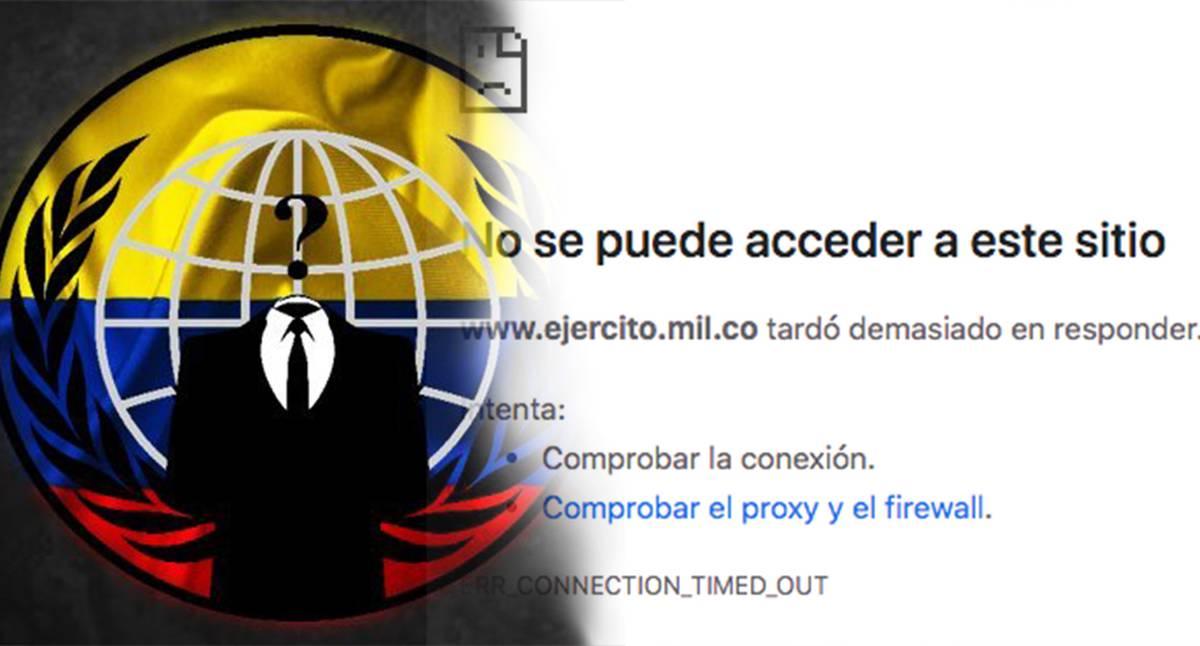 Anonymous tumbó las páginas web del Senado y la Presidencia de Colombia