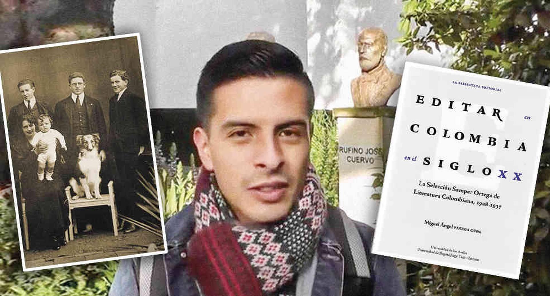 Miguel Ángel Pineda Cupa es comunicador social con énfasis editorial de la Universidad Javeriana. Abajo, su objeto de estudio, Daniel Samper Ortega y su familia.