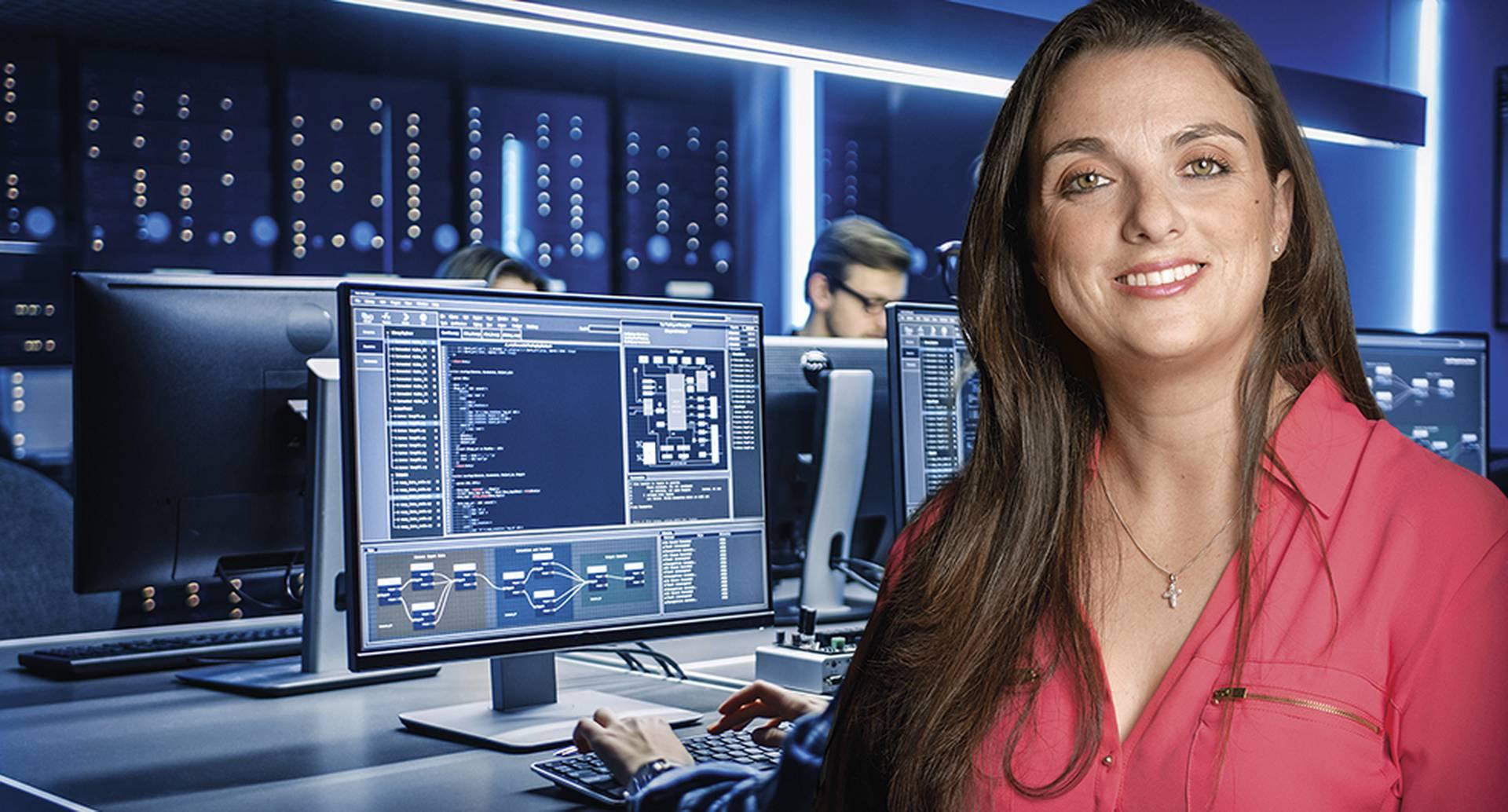 Karen Abudinen, Ministra de las TIC. Latinoamérica gradúa cada año alrededor de 100.000 profesionales de software, incluyendo universidades y escuelas externas. Pero la región necesita tres millones de profesionales TIC.