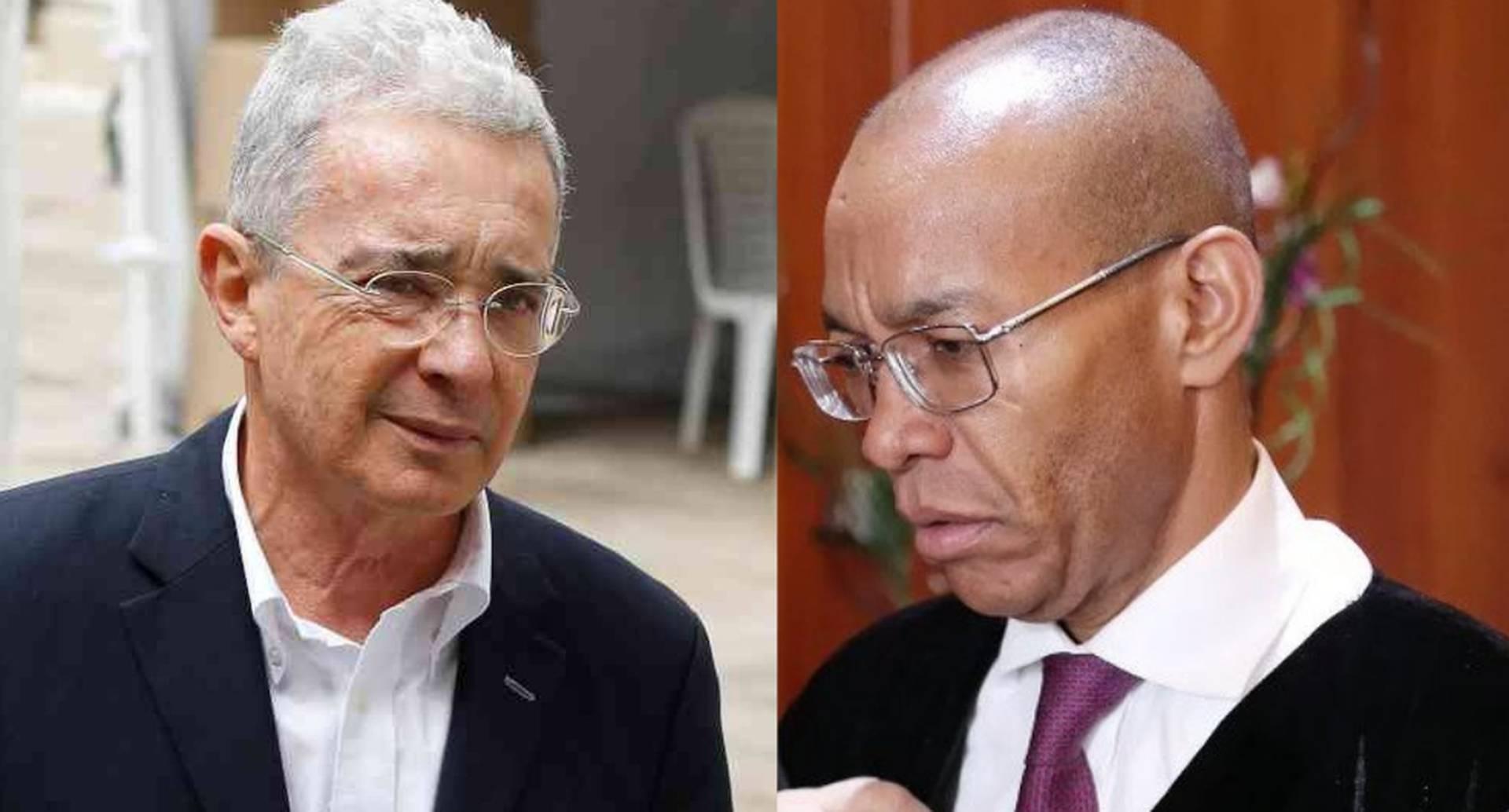 Magistarado Gerson Chaverra Castro y Álvaro Uribe Vélez