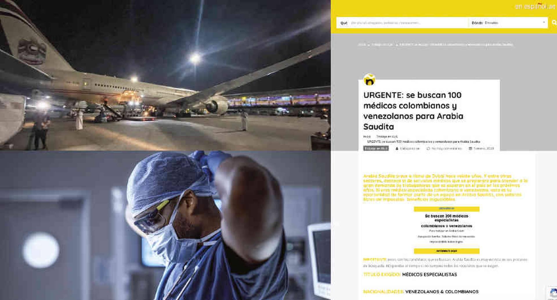 En este avión iban a viajar los 100 colombianos, pero el Gobierno no los autorizó por un trámite administrativo. En enero, en España hubo otra convocatoria para contratar 120 médicos.