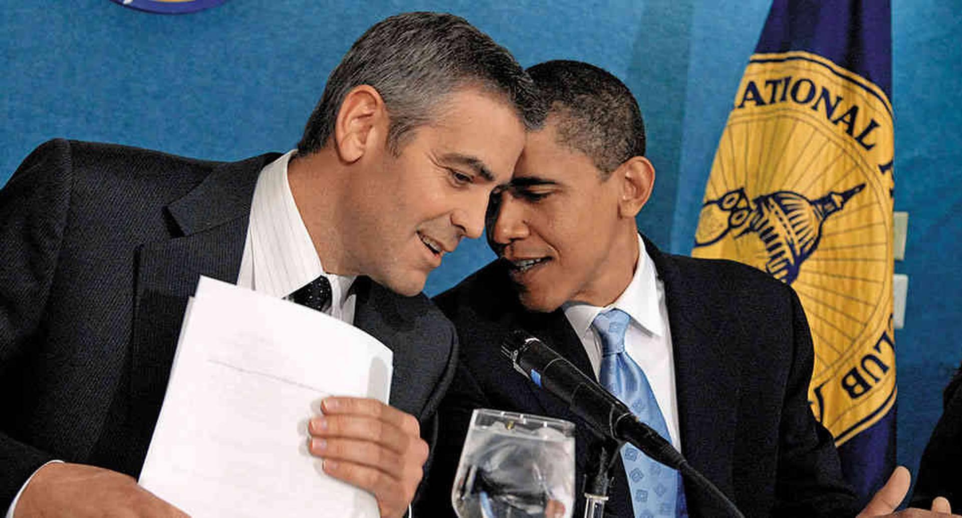 En una reunión en favor de los refugiados de Darfur en 2006, en Washington. Desde ese día se hicieron amigos.
