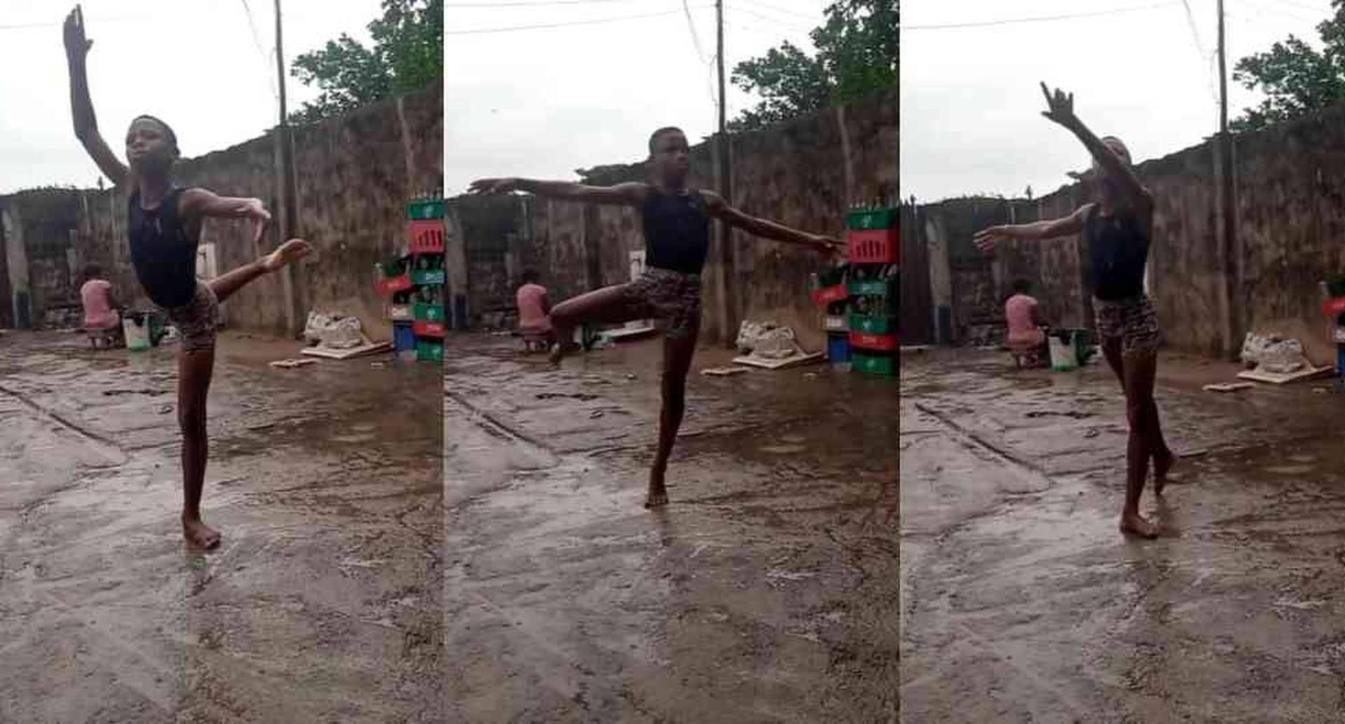 Anthony Mmmesona, niño nigeriano que bailó ballet bajo la lluvia recibió beca en Nueva York.