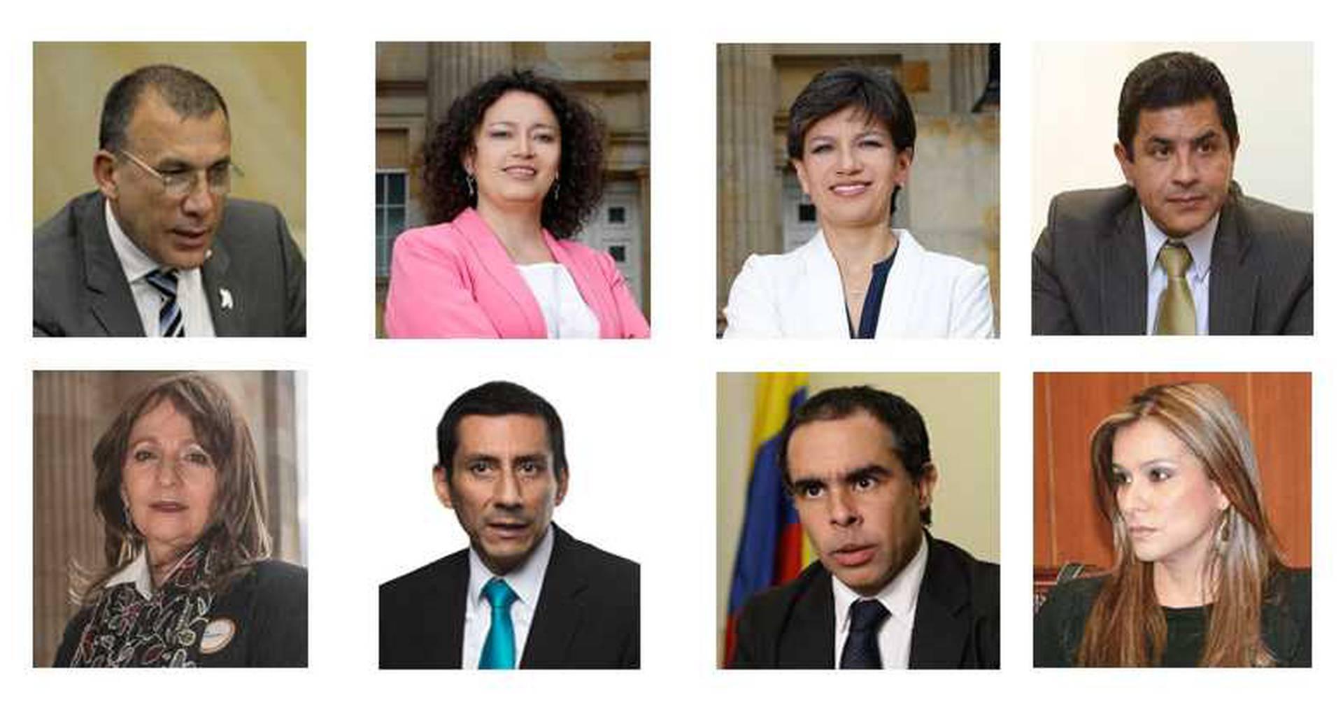 Roy Barreras, Angélica Lozano, Claudia López, Jorge Iván Ospina, Angela María Robledo, Jimmy Chamorro, Armando Benedetti, Maritza Martínez.