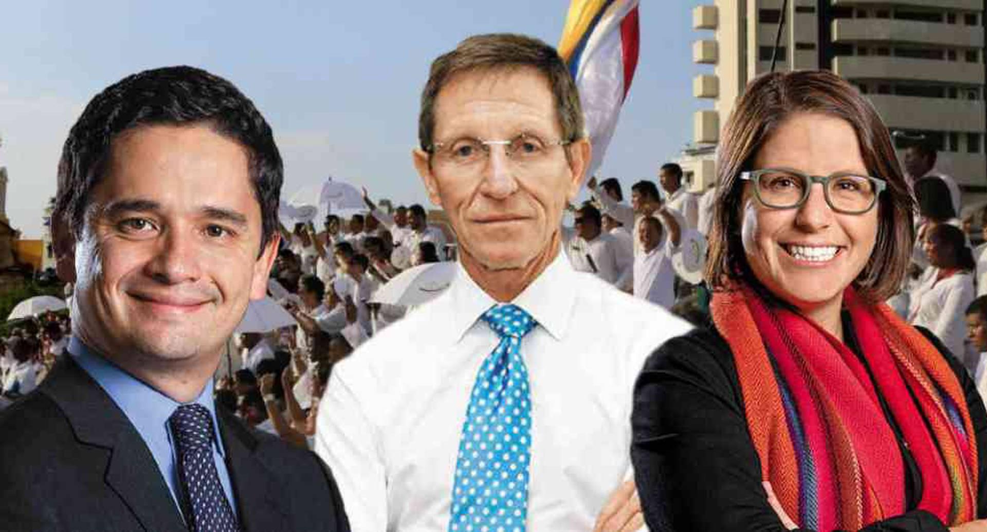 Emilio Archila, Juanita Goebertus y José Daniel López.