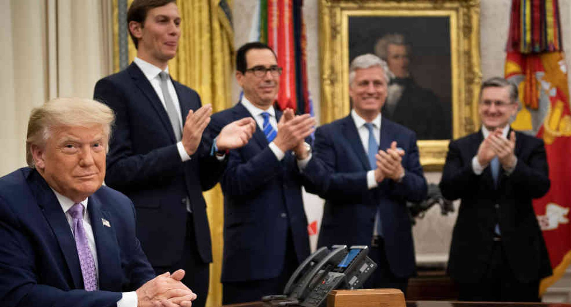 """""""Acuerdo de Paz Histórico entre nuestros dos GRANDES amigos"""", escribió Trump"""