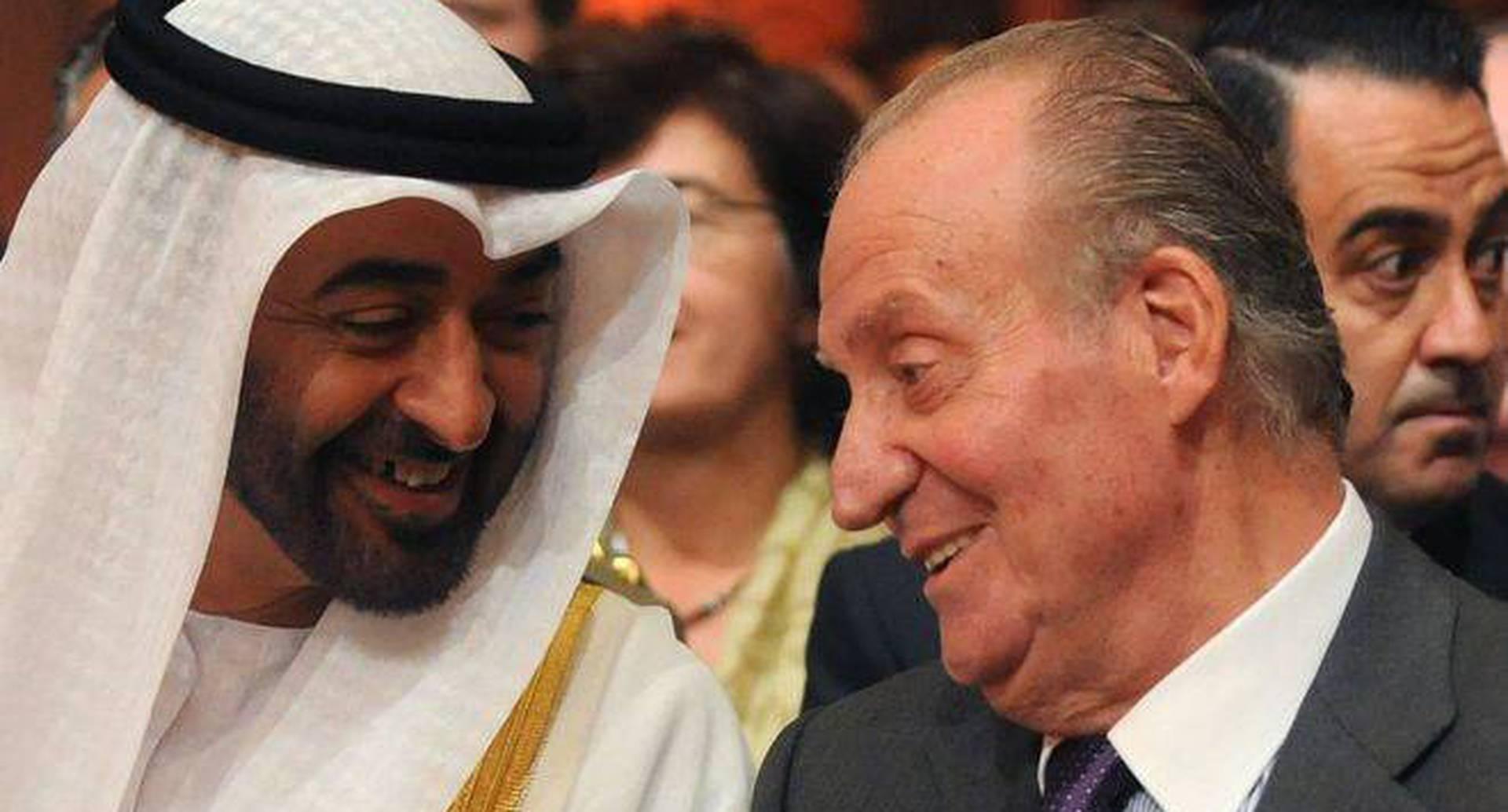 Juan Carlos I mantiene una buena amistad con el gobernante de Abu Dabi y de facto de los EAU, Mohamed bin Zayed al Nahyan.