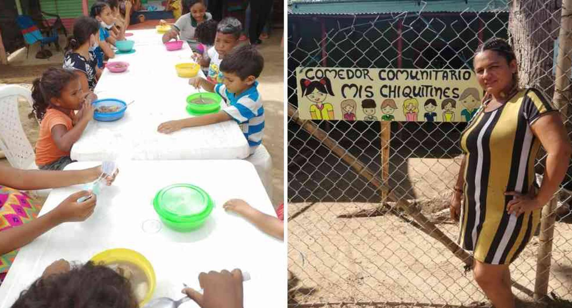 Niños de escasos recursos almuerzan de lunes a viernes en el comedor Mis Chiquitines, en Arauca.