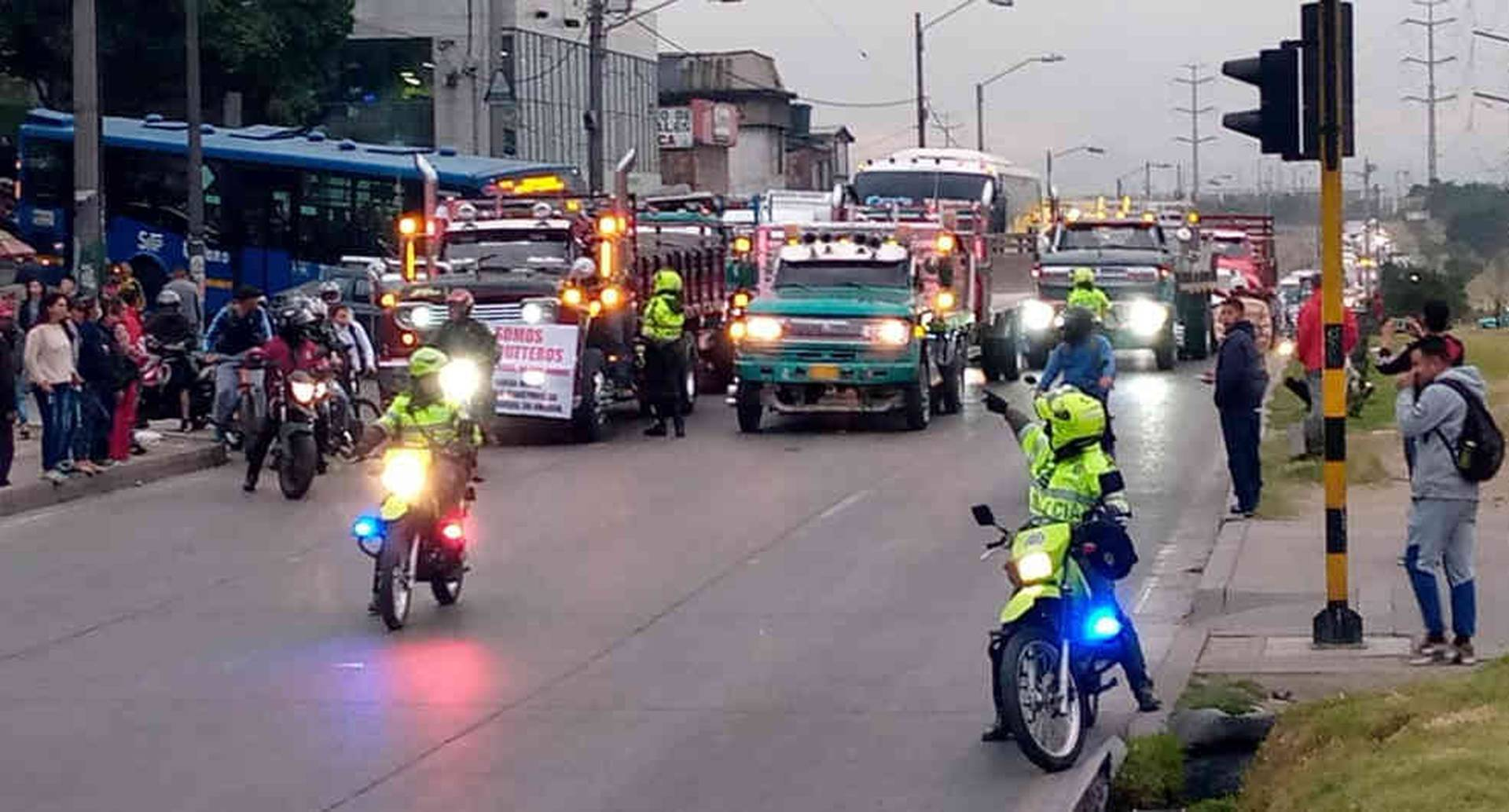 Transportadores concentrados en Bogotá
