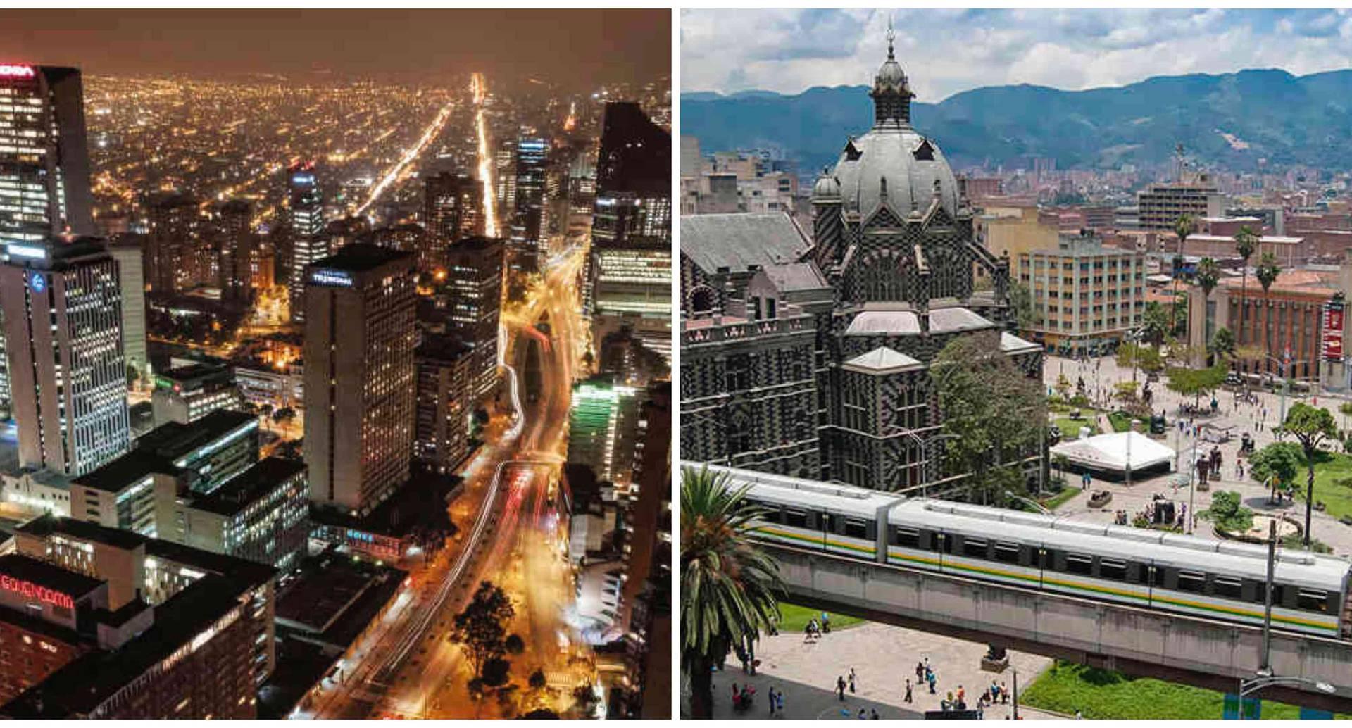 Bogotá y Medellín son las ciudades más modernas de Colombia.