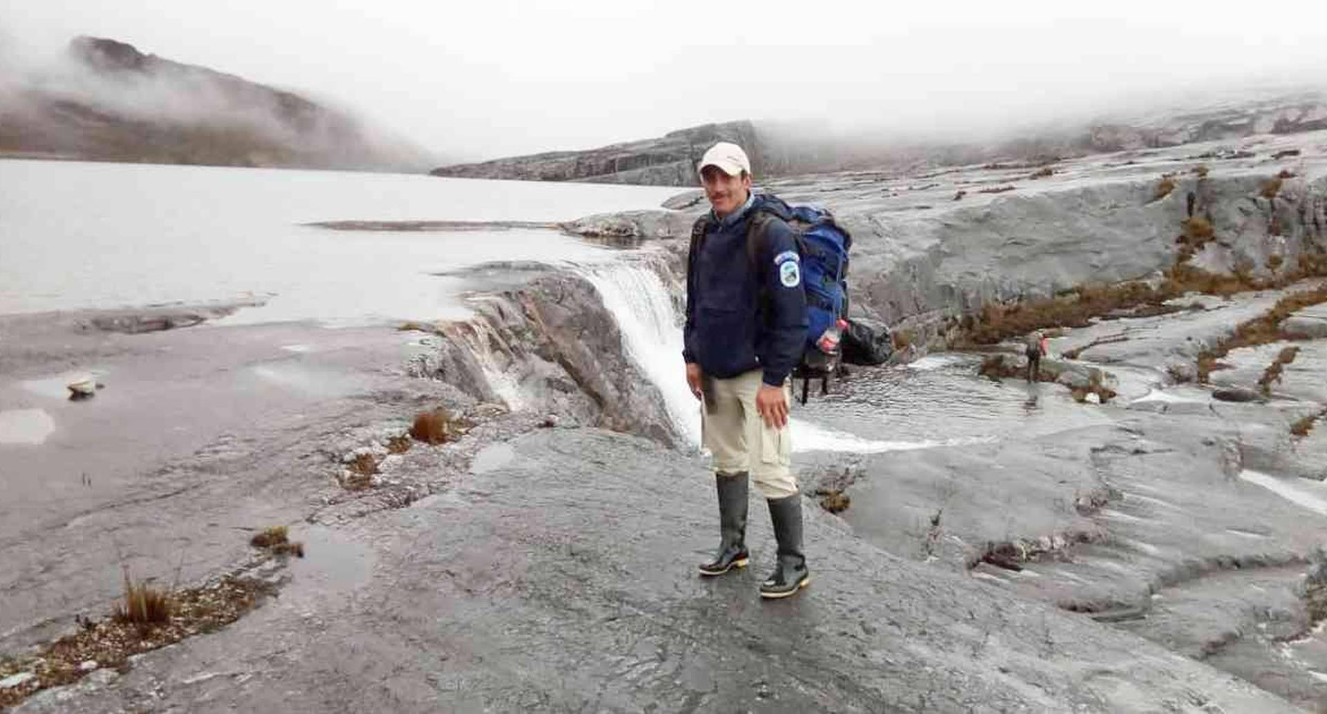 Yamid Alonso Silva, de 38 años, se desempeñaba como funcionario de Parques Nacionales Naturales desde hacía dos años. Foto: Parques Nacionales Naturales.