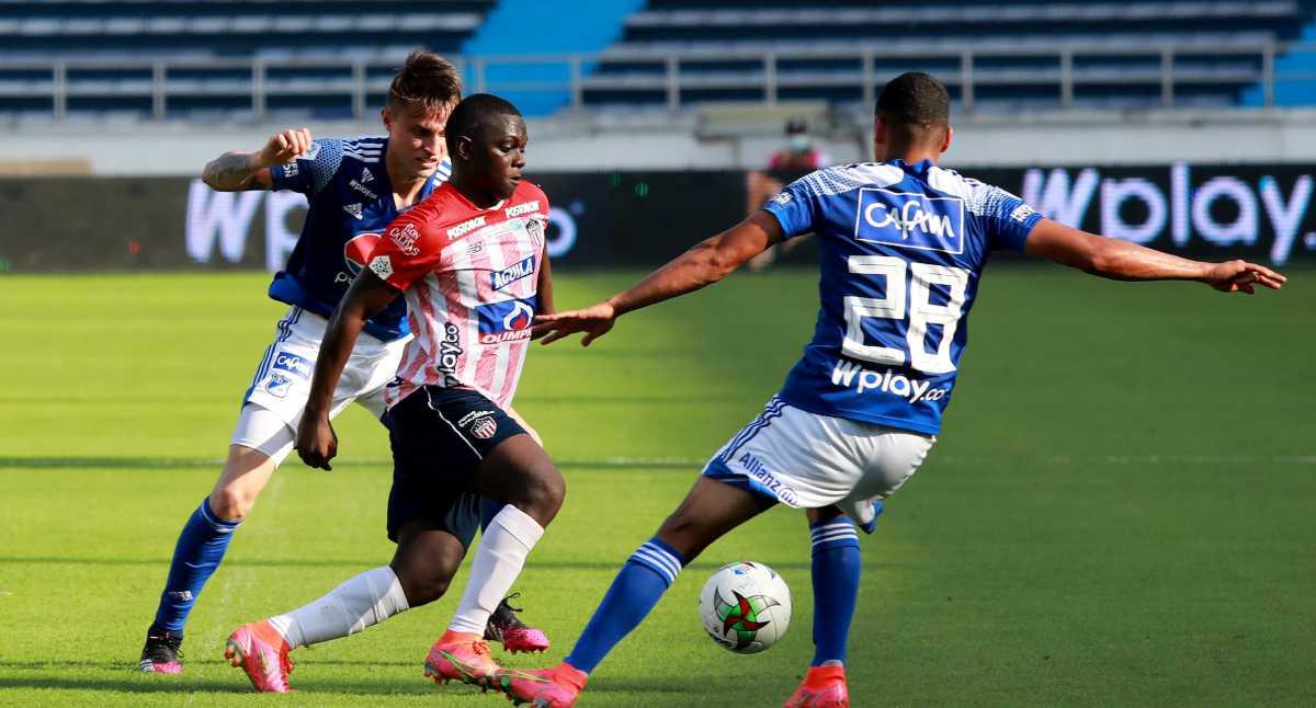 Liga Betplay   En juego apretado, Junior pegó primero en la semifinal ante Millonarios: goles y resumen del juego
