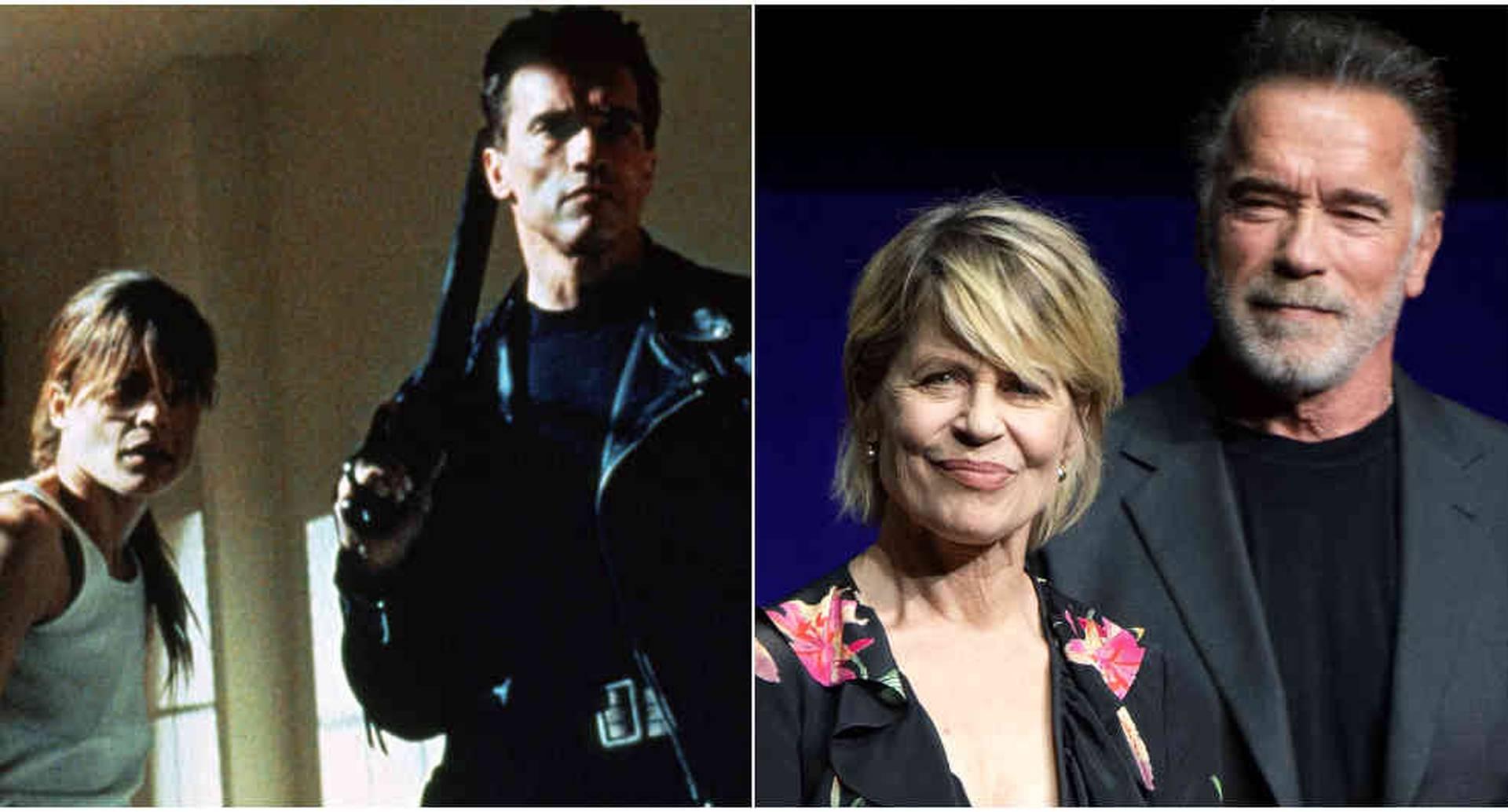 Arnold Schwarzenegger y Linda Hamilton, de Terminator, se reencuentran tras varias décadas