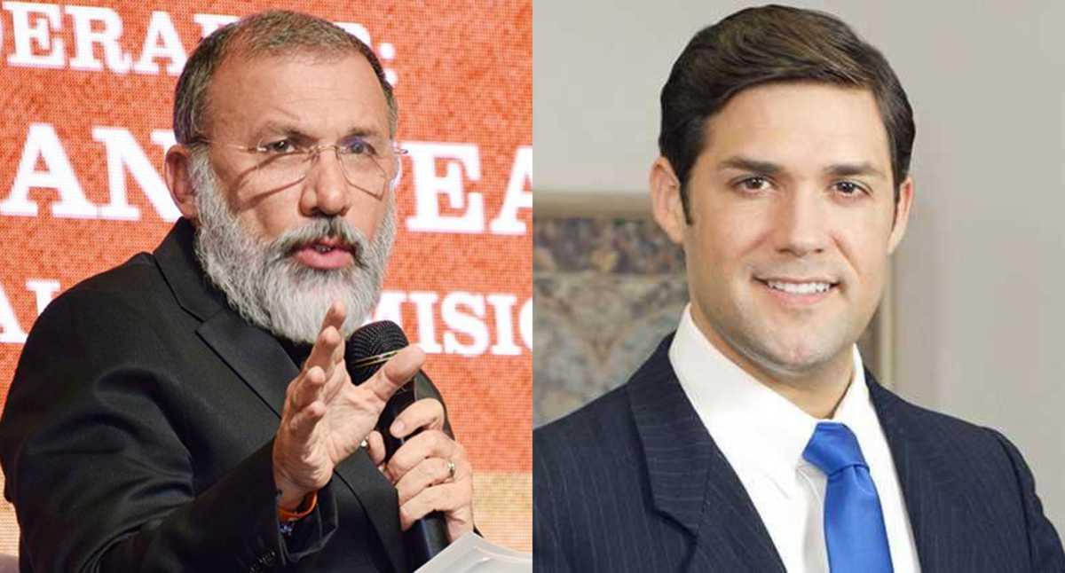 Roy Barreras y Alfred Santamaría