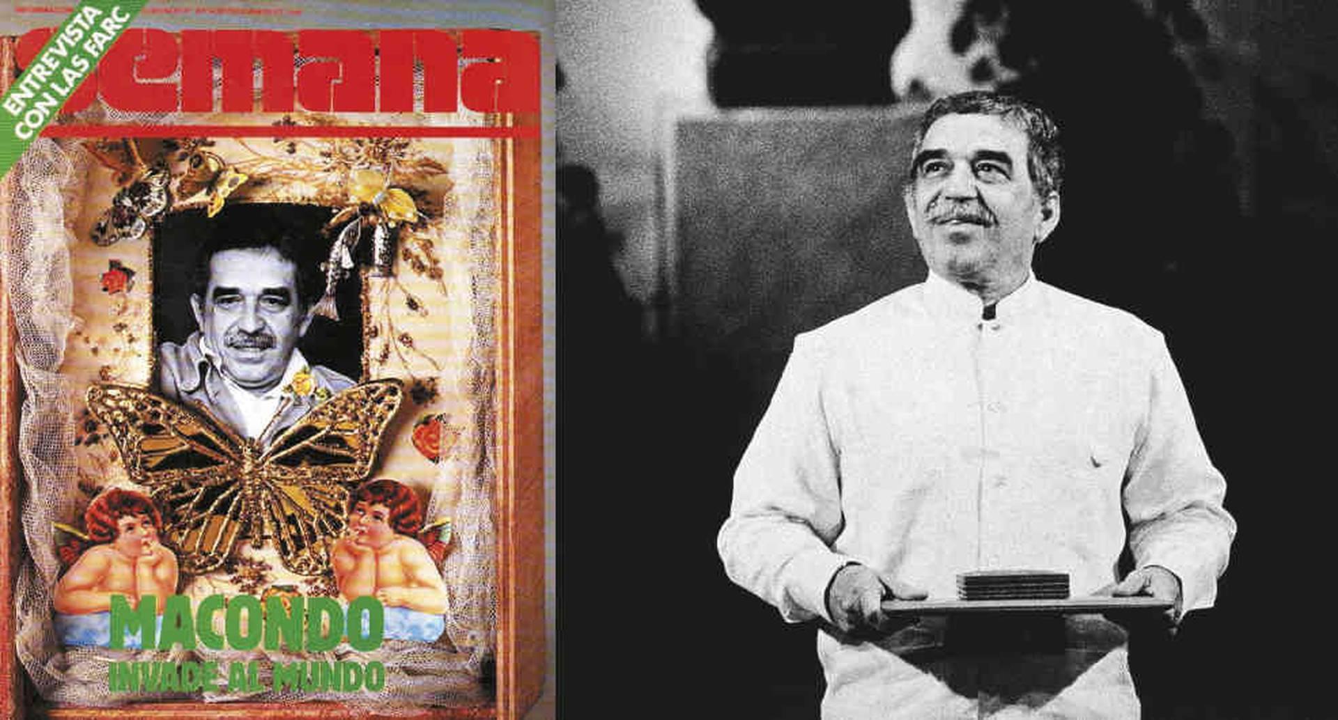 EDICIÓN 32 (1982) Homenaje a Gabo por el Nobel de Literatura. En las dos primeras décadas de existencia de SEMANA, Gabo colaboró con frecuencia y apareció varias veces en la portada.