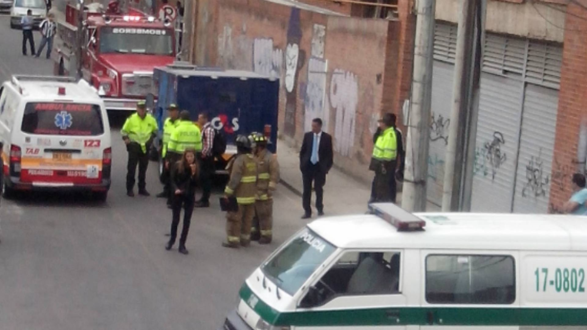 Así fue el millonario robo a carro de valores en Bogotá el martes.