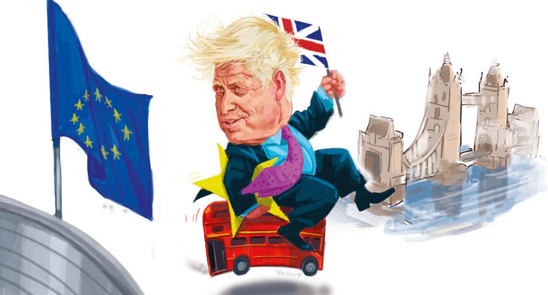 Si Johnson cumple su deseo de lograr un acuerdo rápido, el 31 de diciembre de 2020 marcaría el fin de las negociaciones y del periodo de transición. Caricatura: Jorge Restrepo