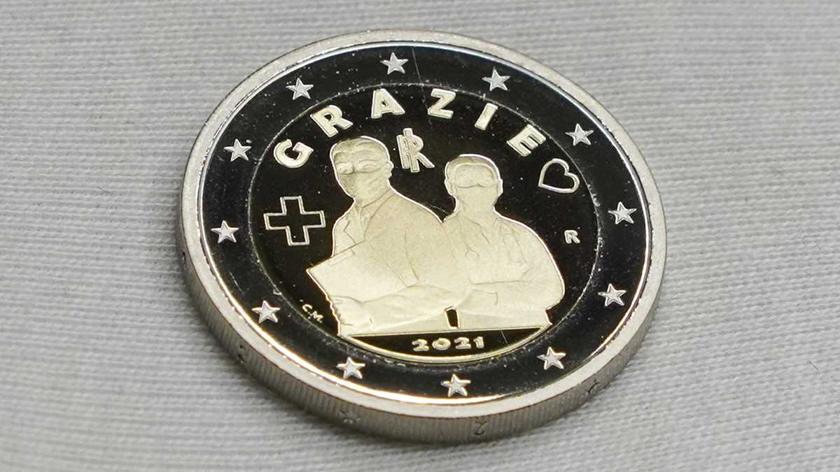 Moneda de dos euros en Italia