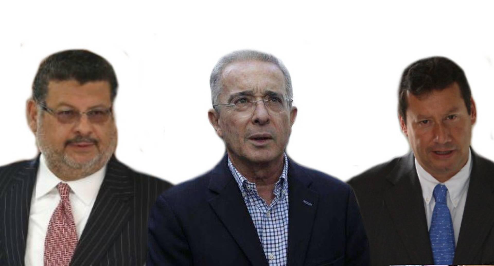 Álvaro Uribe, Jaime Lombana y Jaime Granados