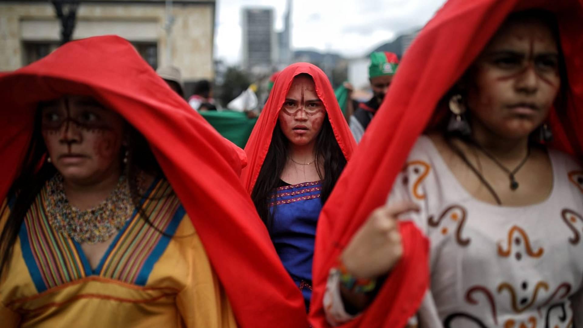 Paro nacional 21 de octubre plaza de bolivar