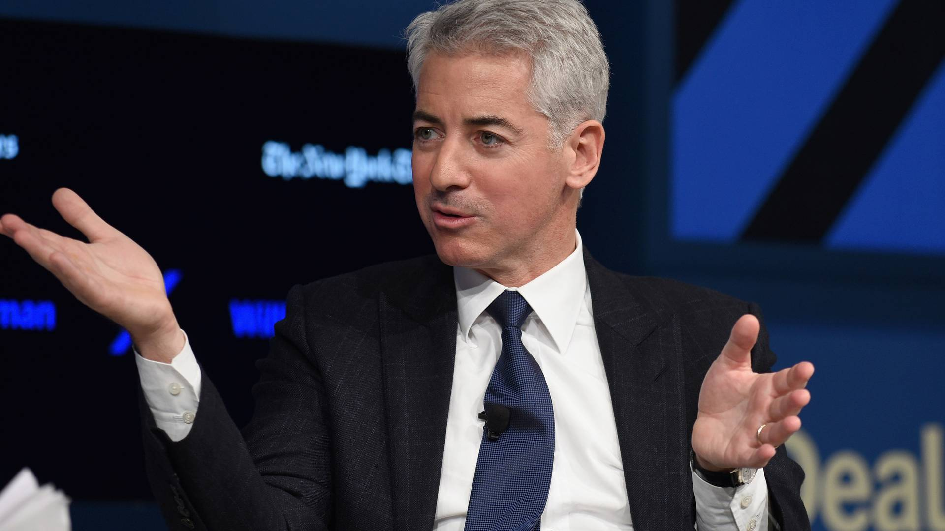 NEW YORK, NY - NOVEMBER 10:  CEO and Portfolio Manager Pershing Square Capital Management L.P. William Ackman speaks at The New York Times DealBook Conference at Jazz at Lincoln Center on November 10, 2016 in New York City.  (Photo by Bryan Bedder/Getty Images for The New York Times )